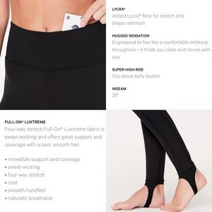 dd74c265f25d38 lululemon athletica Pants - NWT❤️Lululemon Hold on Tight Stirrup Leggings  Luon